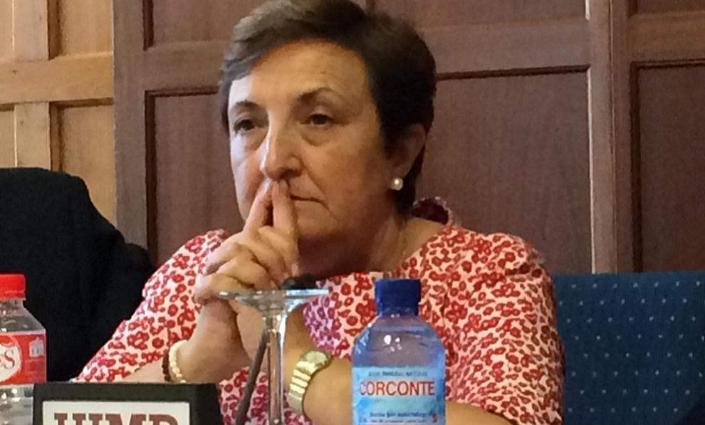 Mar�a Luisa Real, consejera de Sanidad de Cantabria