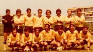 El equipo catalán en un campeonato en Cannes en 1978.