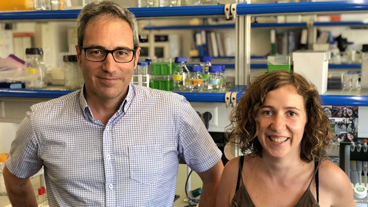 Bru Cormand y Noèlia Fernàndez Castillo, de la Facultad de Biología y el Instituto de Biomedicina de la UB (IBUB)