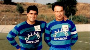 Ferrán Morell y Eduard Mauri, médico actual del Manchester City.