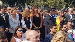 Alba Vergés en los actos del 17A, un año después de los atentados de Barcelona y Cambrills