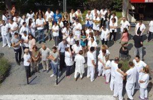 Concentración en el Hospital Germans Trias i Pujol