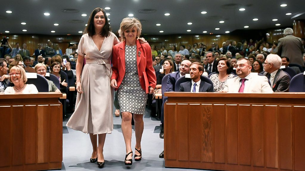 María Luisa Carcedo ha tomado el testigo al frente del Ministerio de Sanidad de la mano de Carmen Montón.