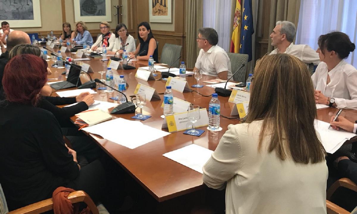 Reunión de la ministra Montón con colectivos para la prevención del suicidio