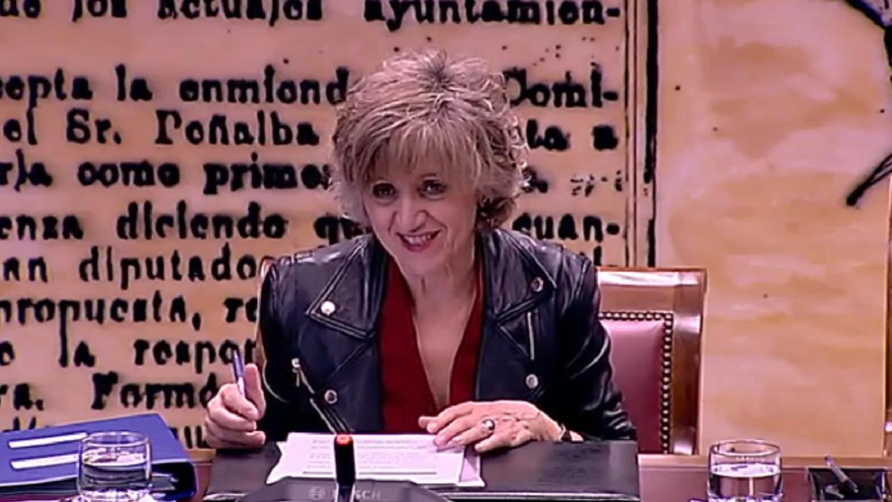 María Luisa Carcedo, ministra de Sanidad, en el Senado.