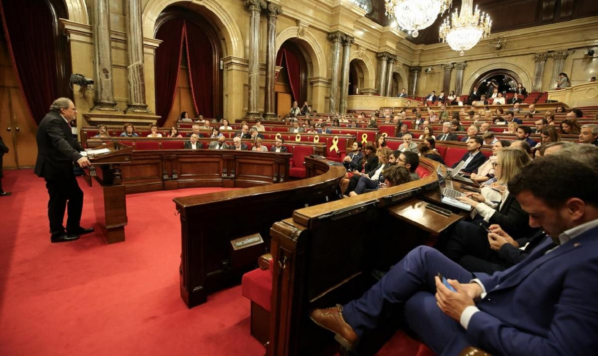 Debate sobre política general en el Parlamento de Cataluña.