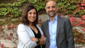 Mar�a Salgado y Javier Mart�nez-Picado, investigadores del IrsiCaixa.