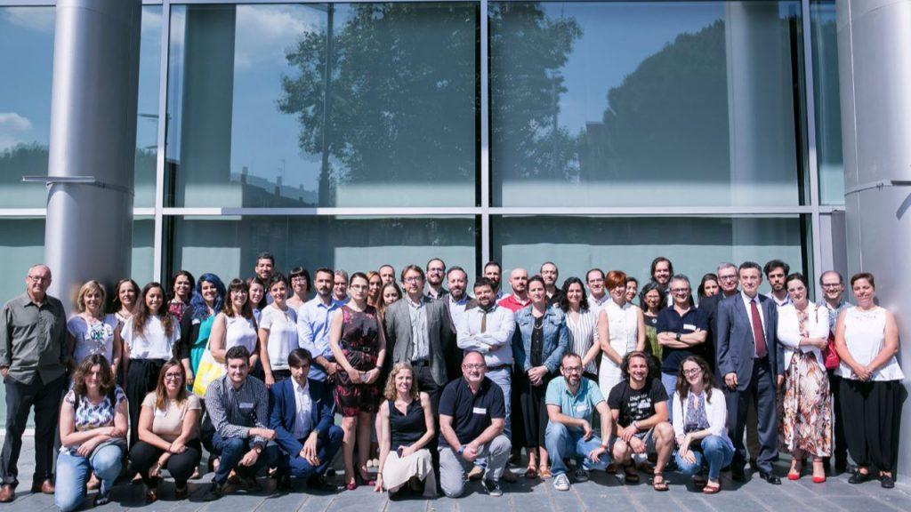 Reunión de técnicos y representantes de Ciencia en el Parlamento, en unas jornadas de formación