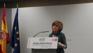 La ministra de Sanidad, Mar�a Luisa Carcedo, al final del Consejo Interterritorial