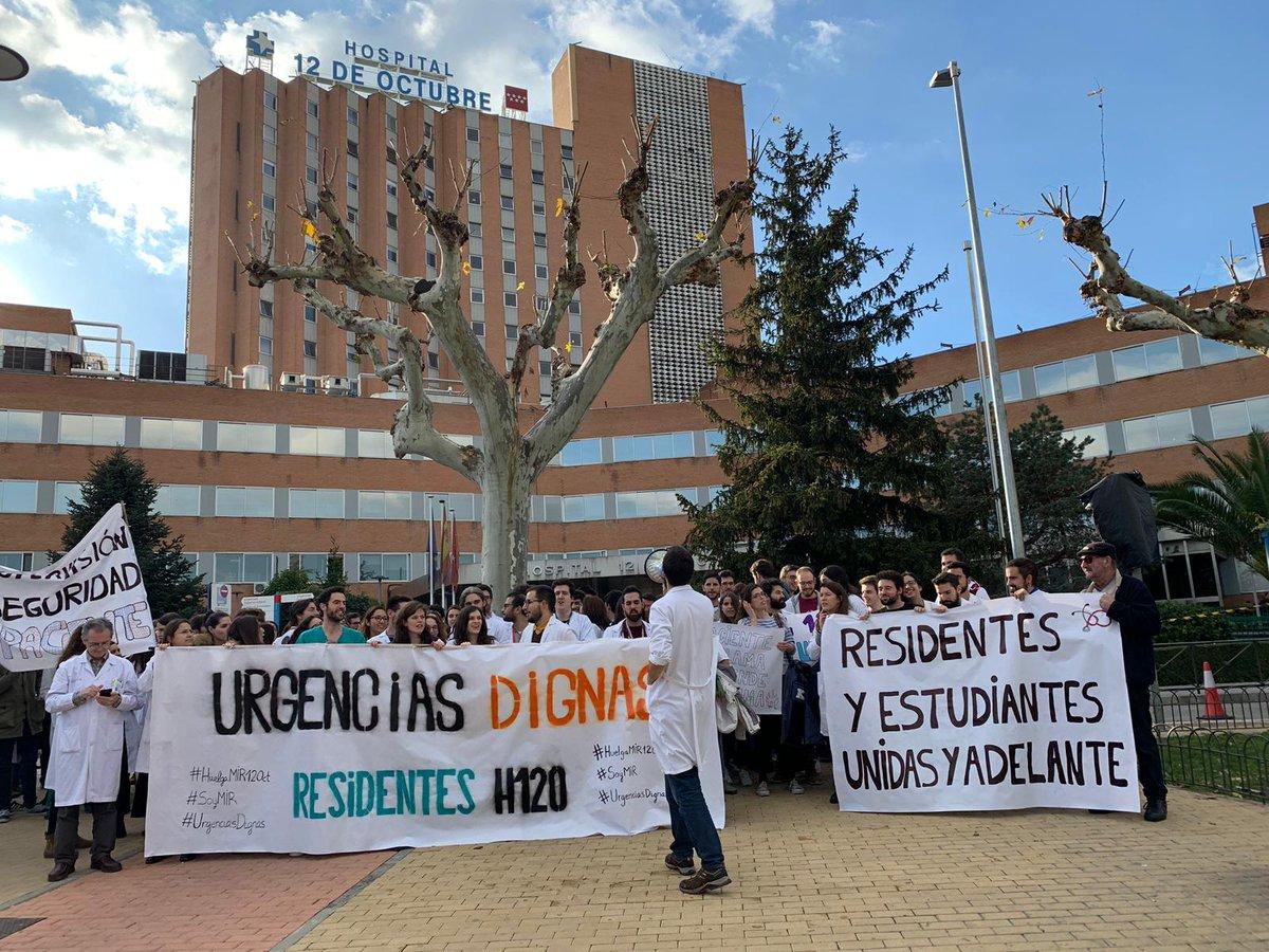 Los MIR del 12 de Octubre suspenden su huelga tras cerrar un acuerdo con la dirección