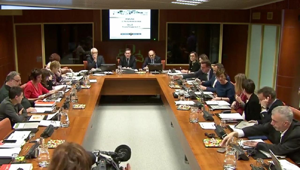 Presentación de los presupuestos sanitarios del País Vasco para 2019