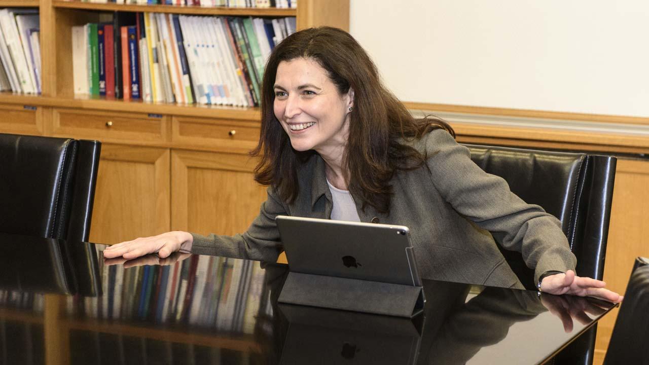Raquel Yotti, directora del Instituto de salud Carlos III, durante la entrevista con DM