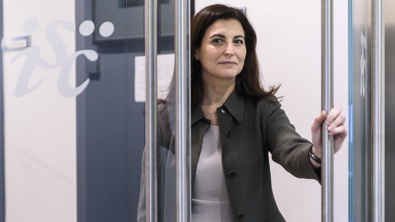 Raquel Yotti, directora del Instituto de salud Carlos III, entres de la entrevista con DM