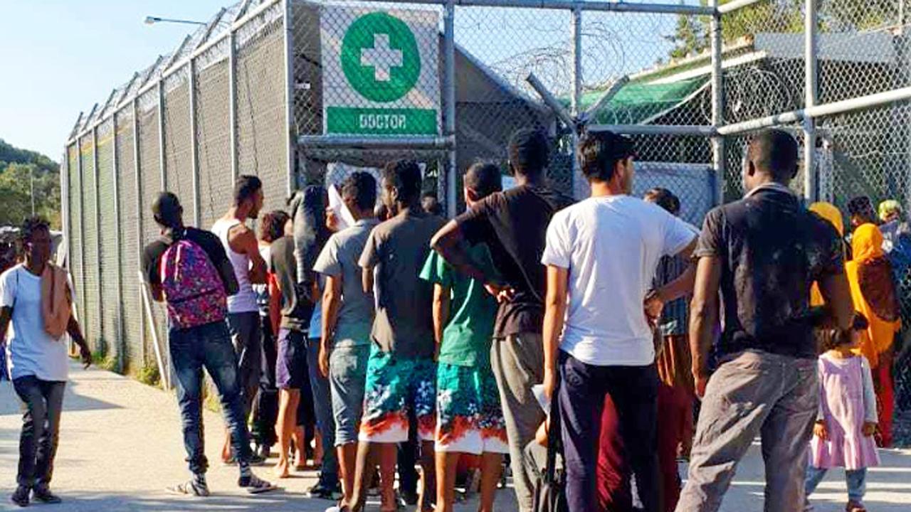 El campo de refugiados de Moria, en Lesbos, se construyó inicialmente como un lugar de paso.