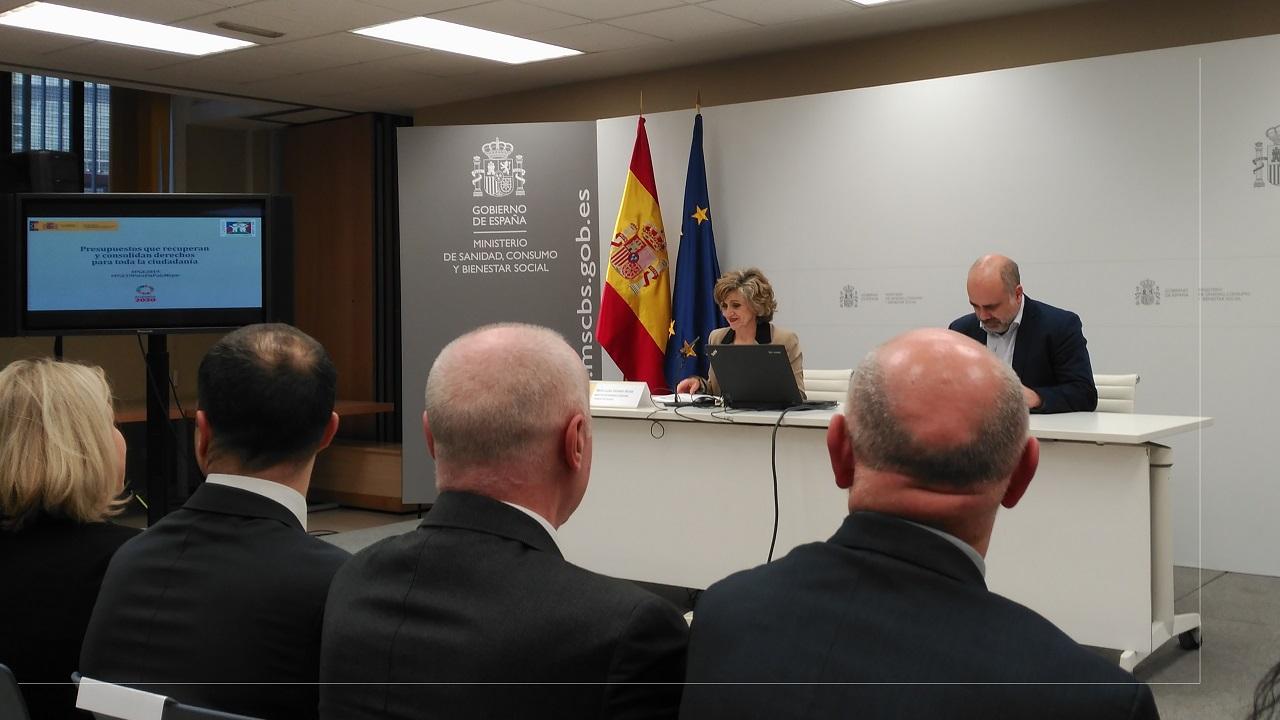 La ministra de Sanidad, en la presentación del proyecto de presupuestos sanitarios para 2019