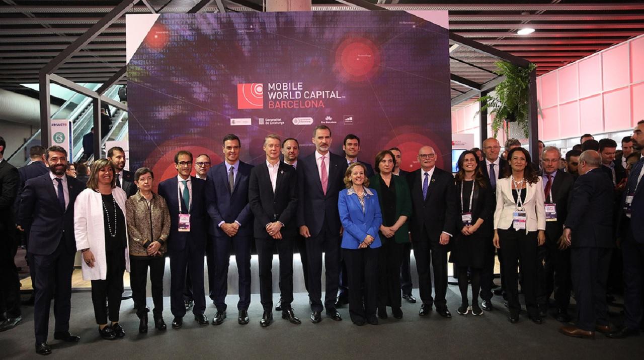 Inauguración del Mobile World Congress 2019, este lunes en Barcelona. Foto de Familia