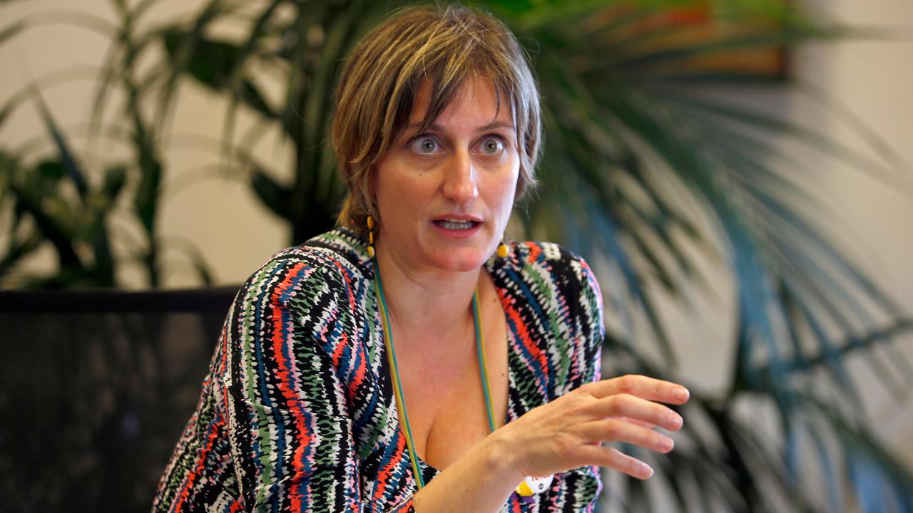 Alba Vergès, consejera de Salud de Cataluña, durante la entrevista con DM