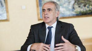 Enrique Ruiz Escudero, consejero de Sanidad de Madrid, durante la entrevista con DM