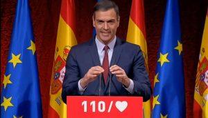 Pedro Sánchez, presidente del Gobierno, en la presentación del programa electoral del PSOE.