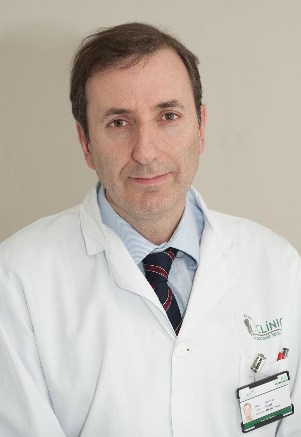 Manel Sabaté, jefe de la Unidad de Cardiolog�a Intervencionista del Instituto Cardiovascular en el Hospital Cl�nico de Barcelona.