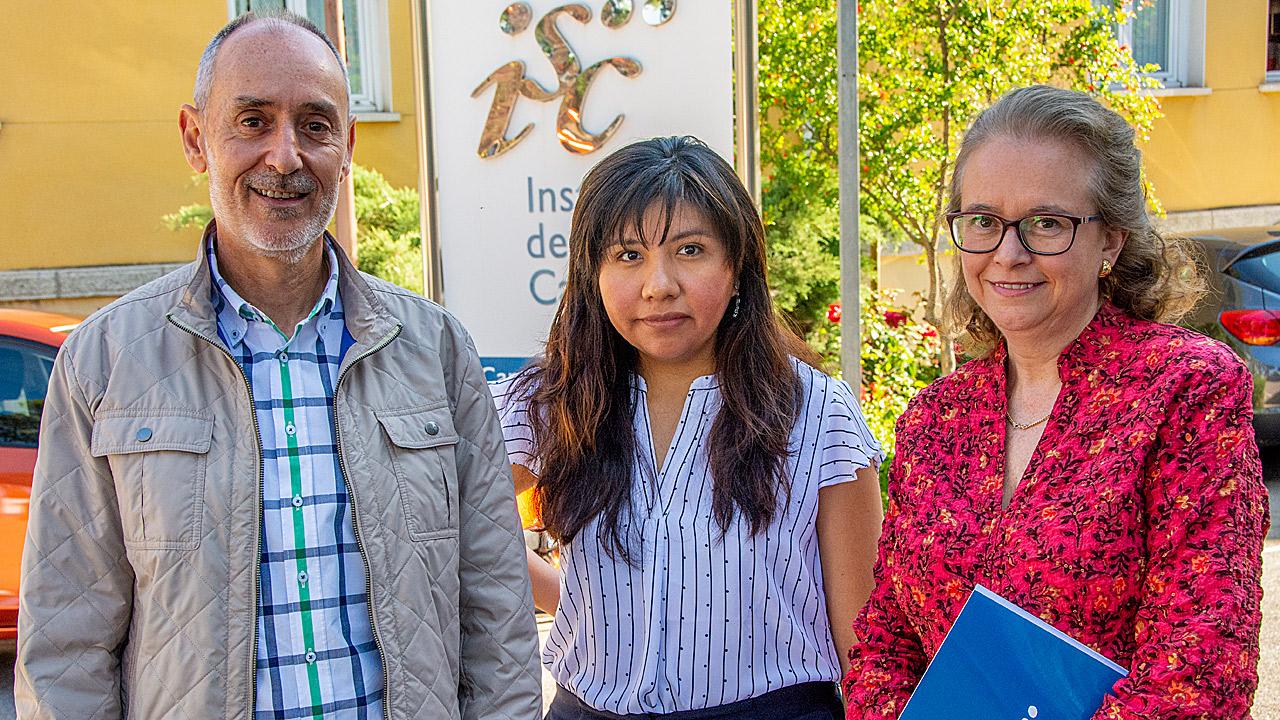 Los autores del esudio Iñaki Galán, Ana Salinas y Eva Bermejo.