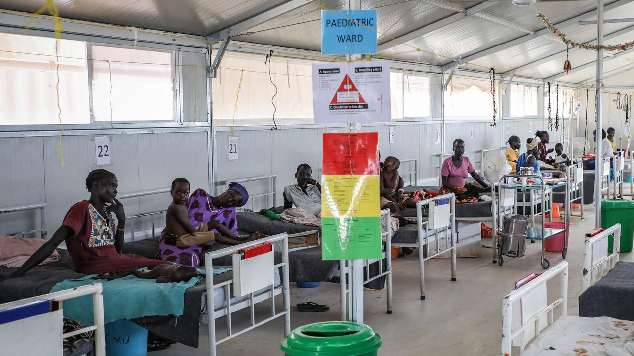 Zona de hospitalización del Hospital de Agok, de MSF, en Sudán del Sur.