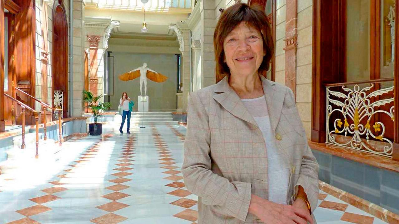 Silvia Gold, presidenta de la Fundación Mundo Sano, en el Casino de Murcia, donde recibió la medalla de oro de la Academia de Medicina.