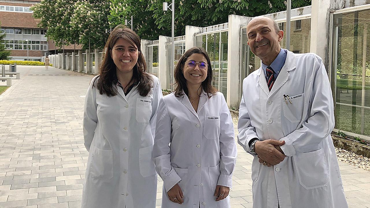 Clara Gómez, Maira Bes-Rastrollo y Miguel A. Martínez-González, miembros del Ciberobn y autores del estudio.