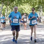 Enrique Ruiz Escudero, consejero de Sanidad de la Comunidad de Madrid, y Bárbara Fernández, gerente asistencial de Atención Hospitalaria de la Comunidad de Madrid, durante la XVII Carrera para la Lucha Contra el VIH, de Gilead.