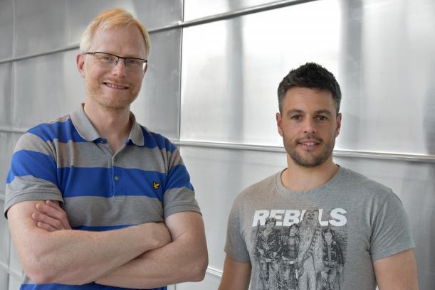 Tomas Deierborg y Antonio Boza Serrano, participantes en la investigación.