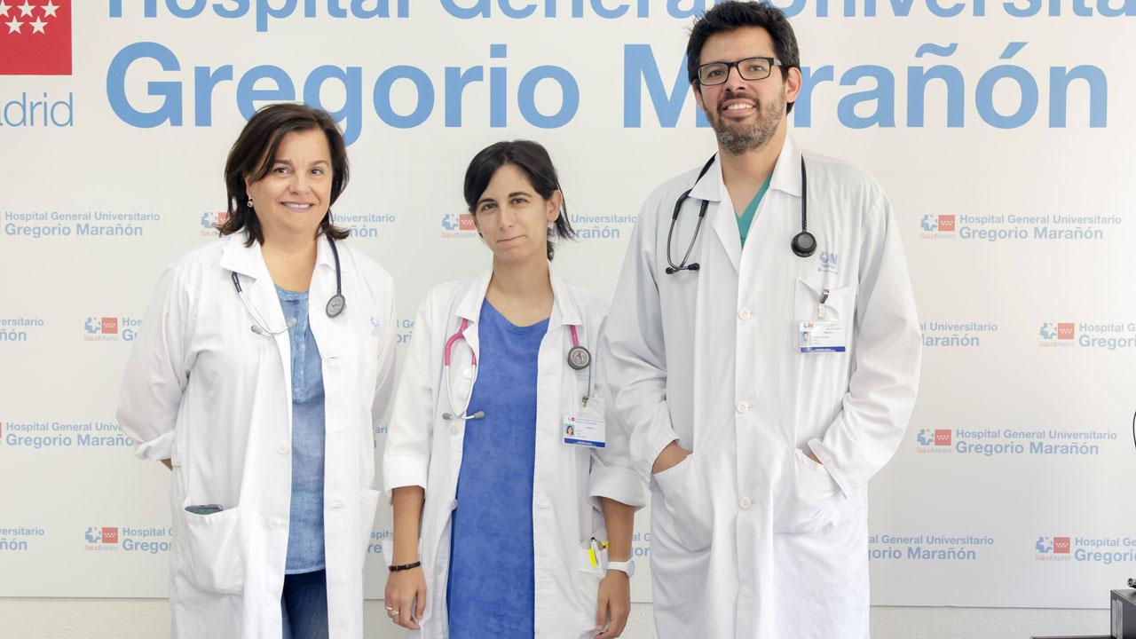 Soledad López Martín, Elena Ojeda Castillejo y Daniel López Padilla, neumólogos de la Sección de Soporte Ventilatorio y Trastornos del Sueño del servicio de Neumología del Hospital Gregorio Marañón.