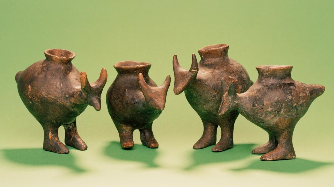 'Biberones' de la Edad de Bronze de tard�a hallados en Vösendorf, Austria.