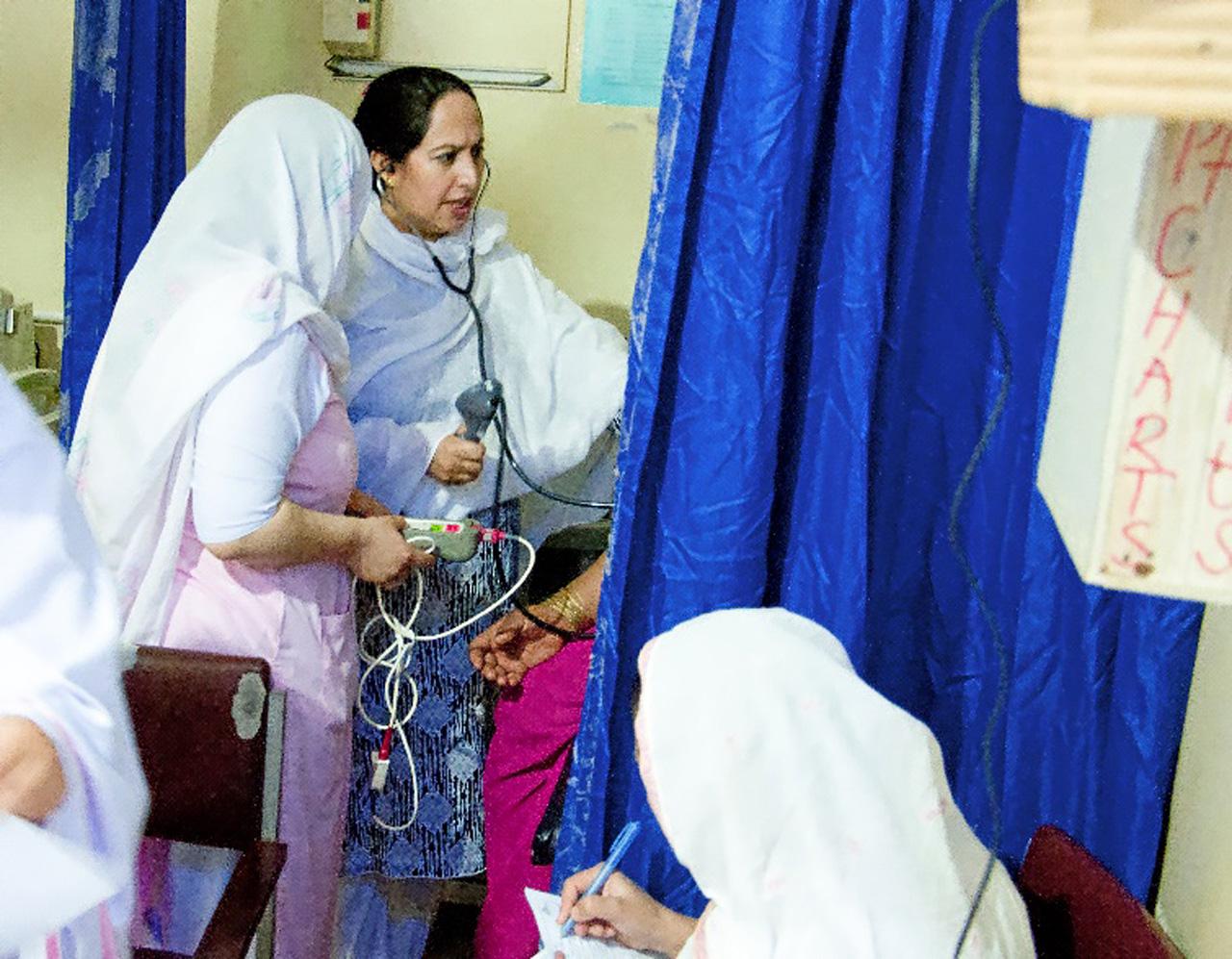 Triaje en la maternidad del Hospital de Timergara.