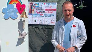 Jesús Castro, en el maratón de donación donde surgió la iniciativa de Piano por la Salud.