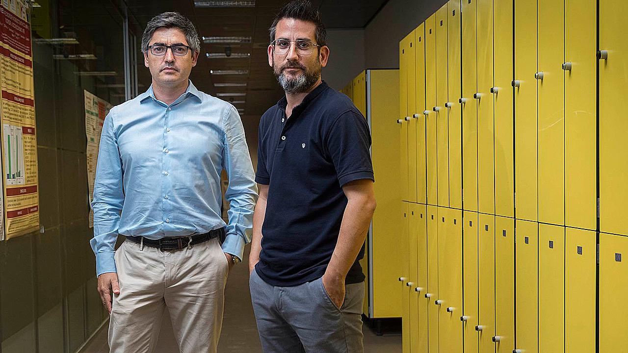Gonzalo Haro y Francisco Arnau Peiró , profesores de Medicina de la CEU-UCH.