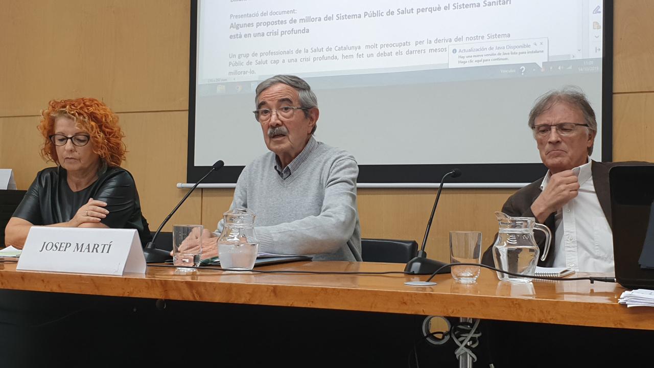 María José Fernández de Sanmamed, Josep Martí y Emili Ferrer.
