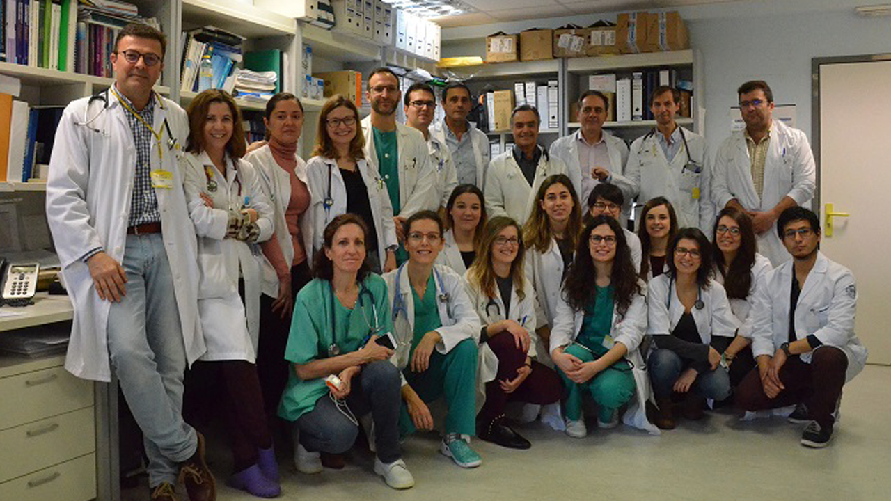 Grupo de investigación coordinado por Juan Fernando Masa, jefe de grupo del Ciberes en el Hospital San Pedro Alcántara de Cáceres.