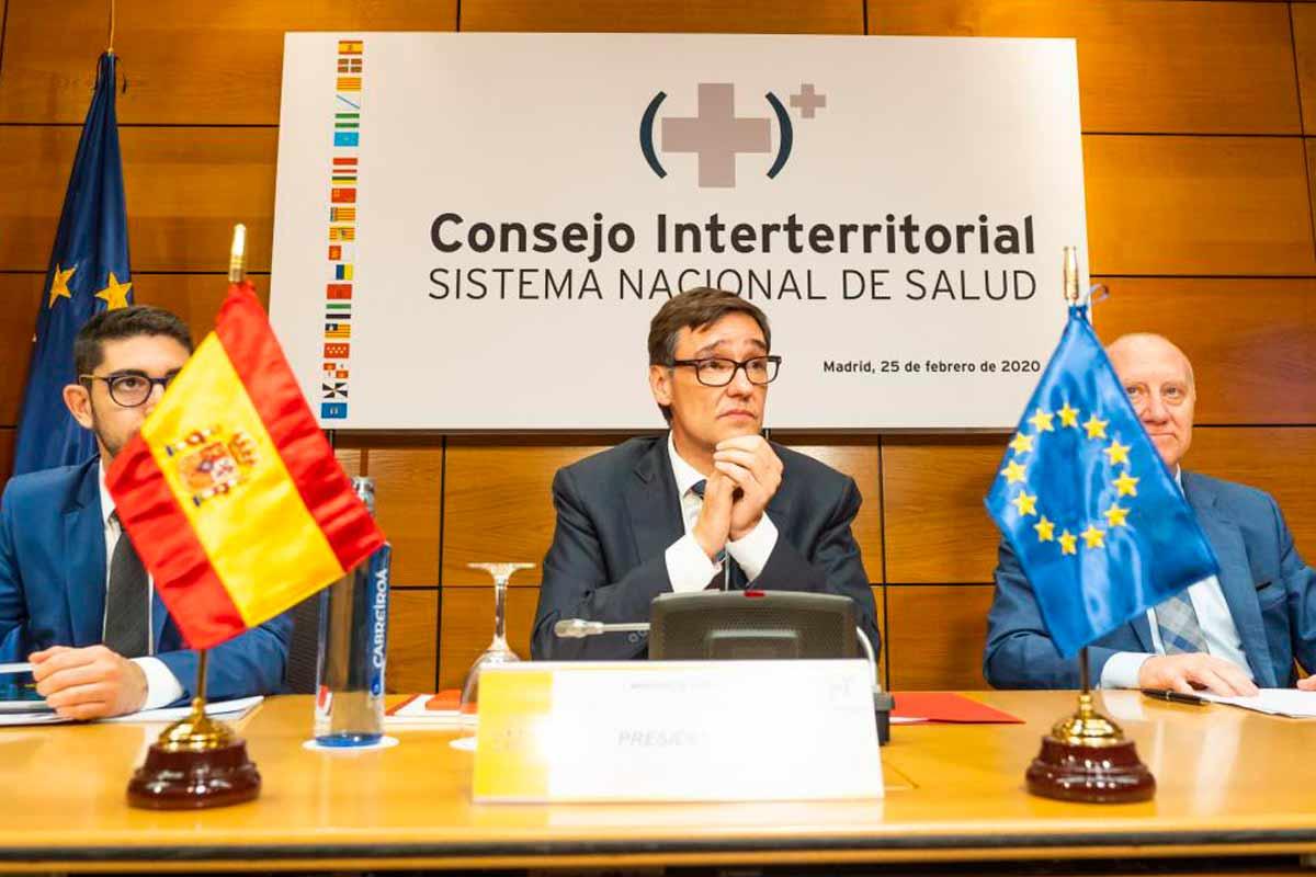 El ministro de Sanidad, Salvador Illa, ha presidido el Consejo interterritorial celebrado este martes.