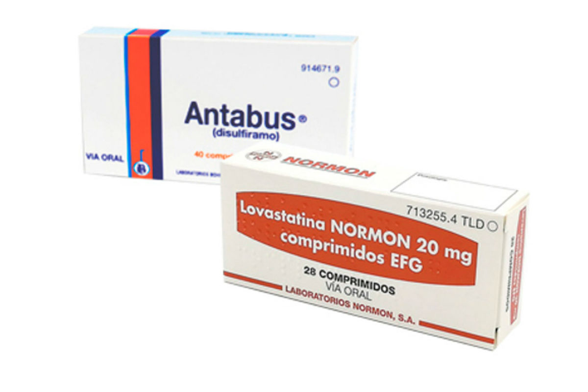 Disulfiram y lovastatina, dos de los fármacos con potencial antitumoral identificados vendidos en España.