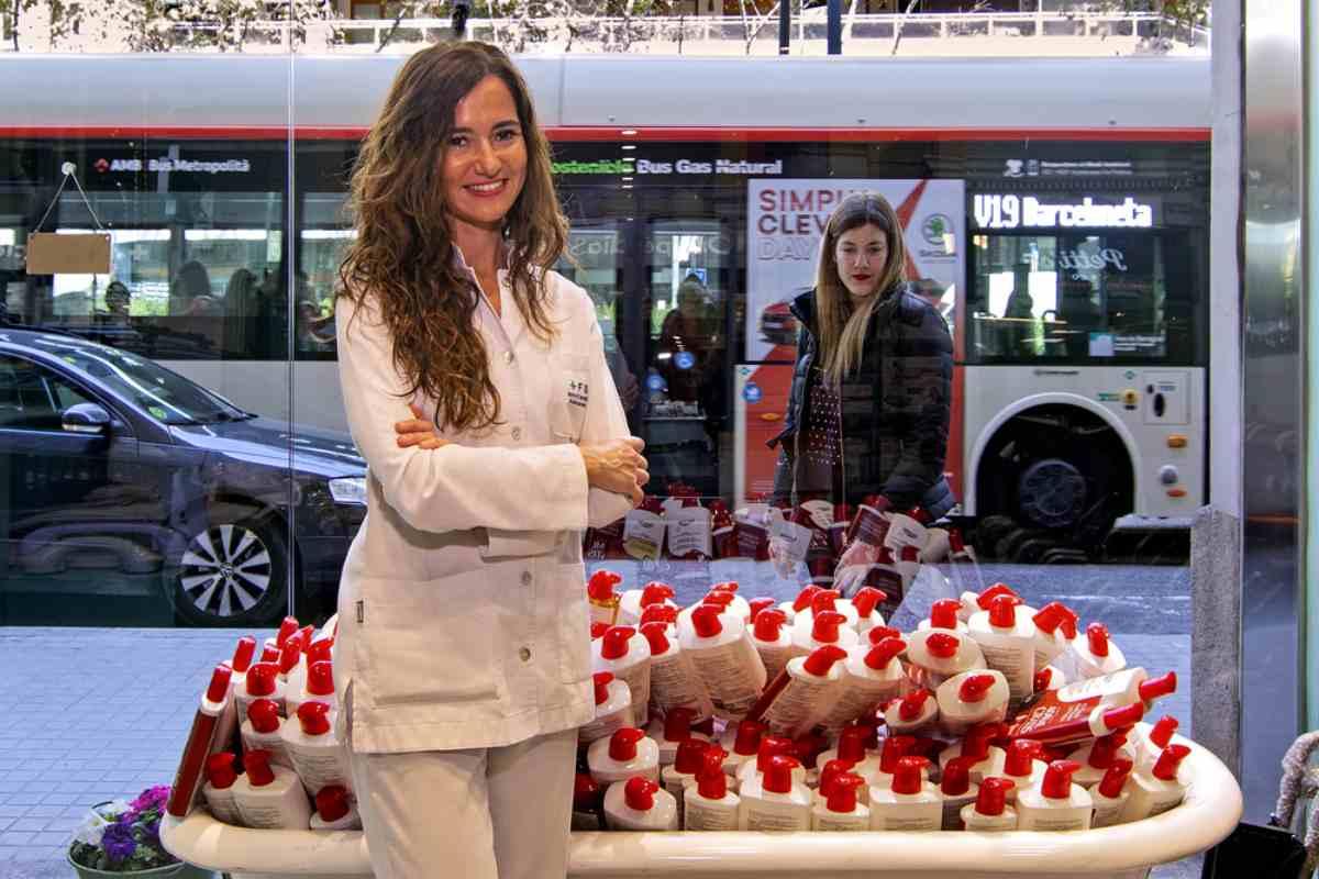 El escaparate de Farmacia Soler (Barcelona) utiliza muy bien las técnicas de marketing para agasajar a sus clientes.