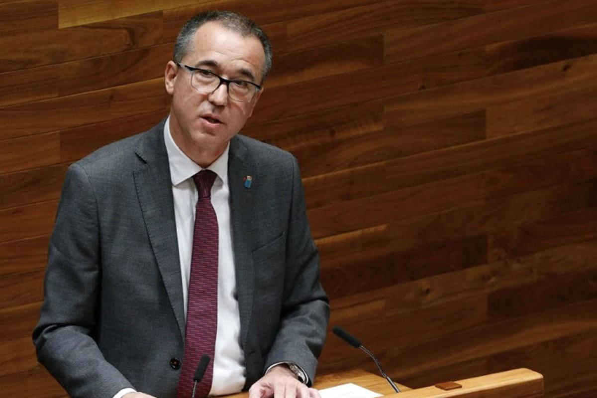 Pablo Fernández, durante una comparecencia en la Cámara asturiana.