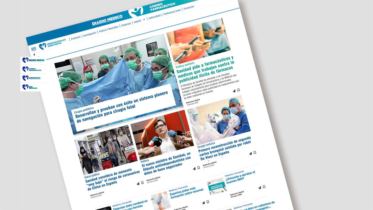 Página web de Diario Médico