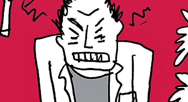 Ilustración de hombre con estrés