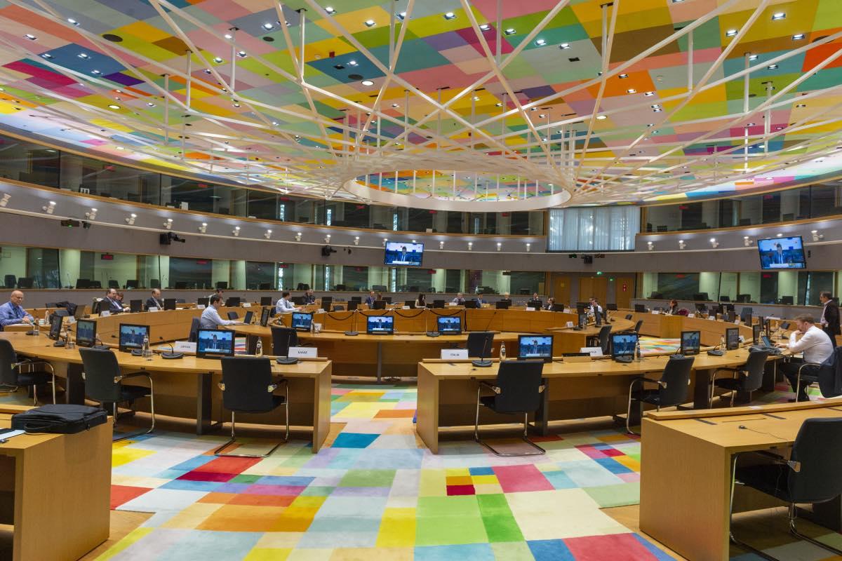 Aspecto de la reunión extraordinaria del consejo europeo.
