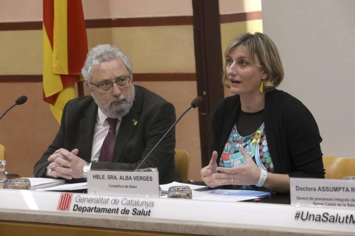 Alba Vergés y Joan Guix en rueda de prensa sobre Covid-19.