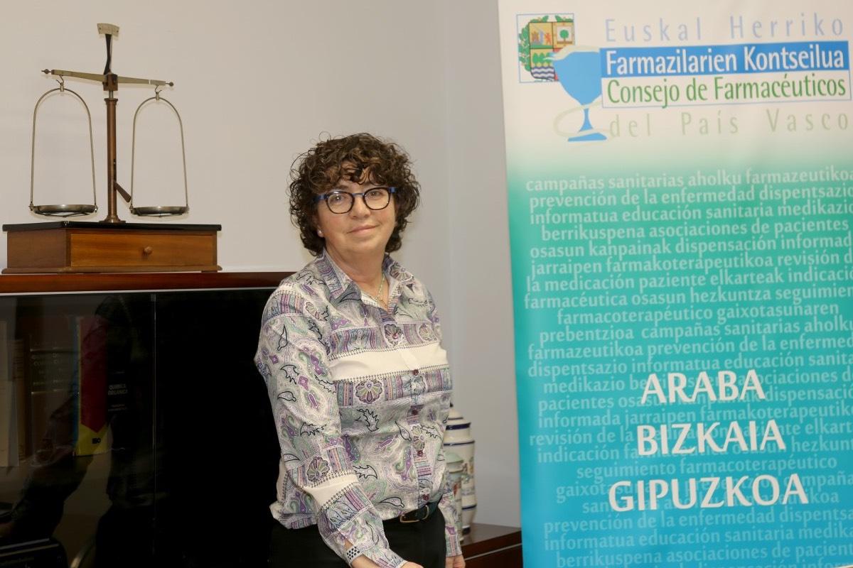 MilagrosLópez de Ocáriz, presidenta del Consejo vasco de COF y del COF de Álava.