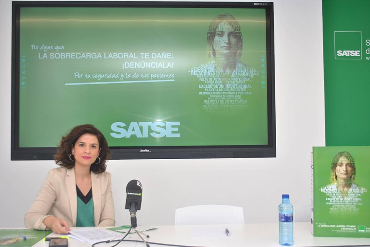 Teresa Galindo, secretaria general de Satse Madrid.
