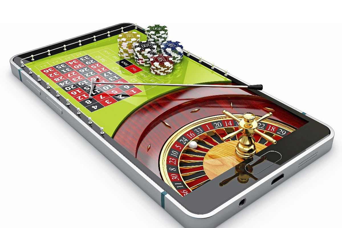 Ruleta de casino en el móvil