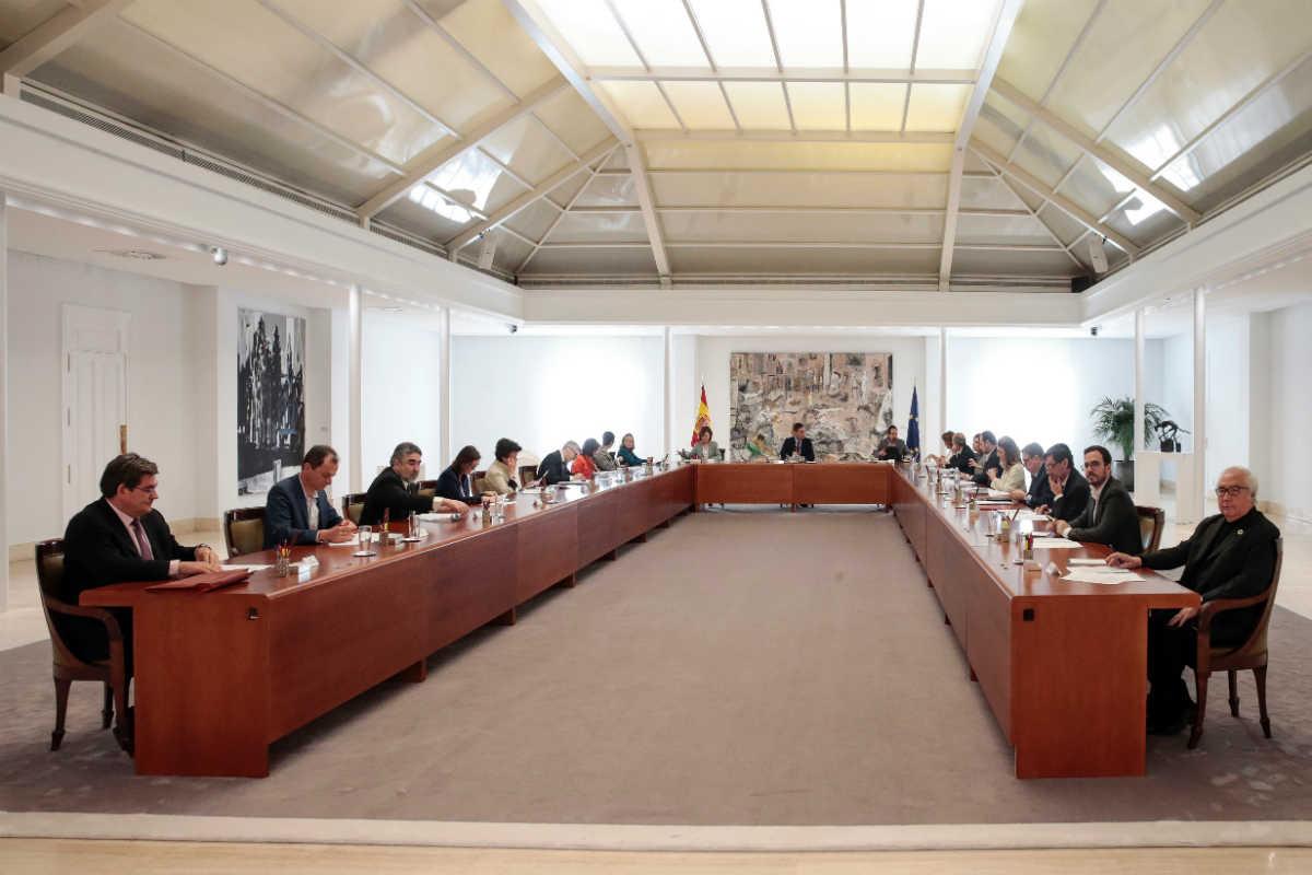 Consejo de Ministros extraordinario celebrado este sábado.