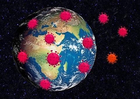 Virus rodeando el planeta